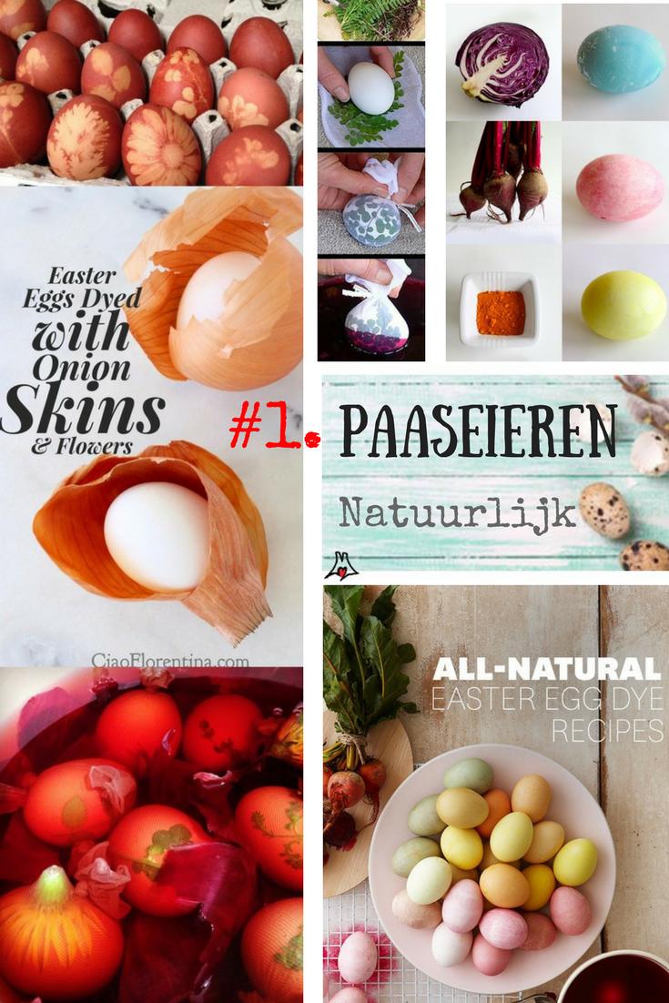 """""""Paaseieren op natuurlijke wijze kleuren. Met rode ui en een oude panty. Inspiratie van Pinterest. Melsfeestje.nl"""""""