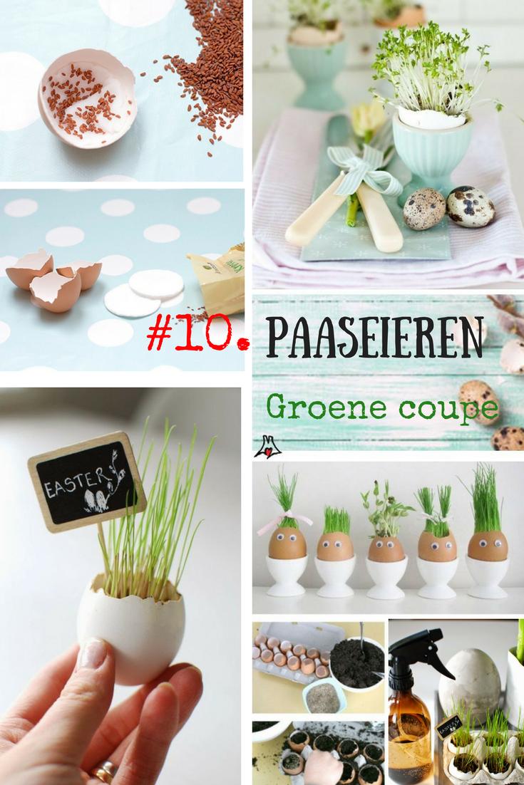 """""""Paaseieren bewerken techniek #10. Paasei met een groene coupe"""""""