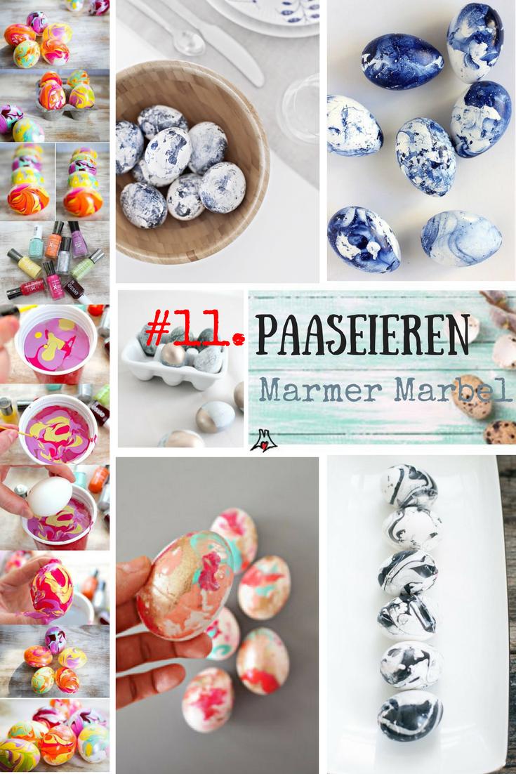 """""""Paaseieren bewerken techniek #11. Paasei gemarmerd / marble"""""""