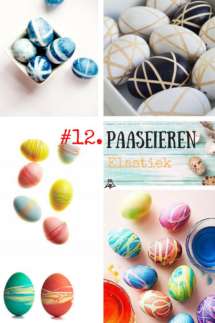 """""""Paaseieren bewerken techniek #12. Elastiek om de paasei – de tie dye techniek"""""""