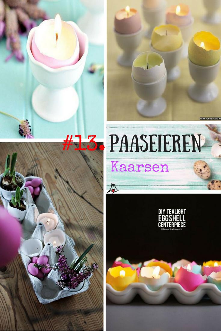 """""""Paaseieren bewerken techniek #13. Eierschil kaarsen, de Paarskaars"""""""