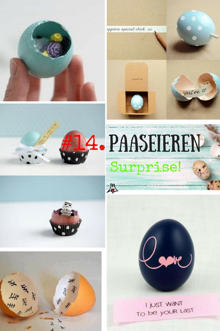"""""""Paaseieren bewerken techniek #14.  De Verrassings paasei"""""""