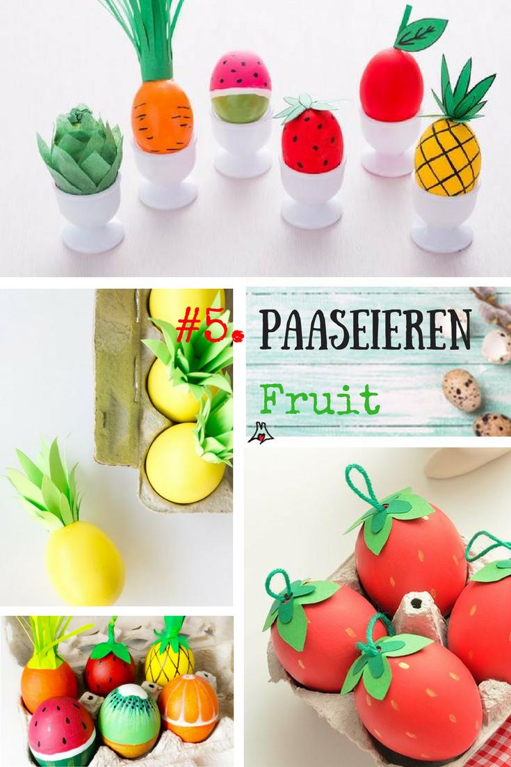 """""""Paaseieren bewerken techniek #5 Maak fruit van je paasei"""""""