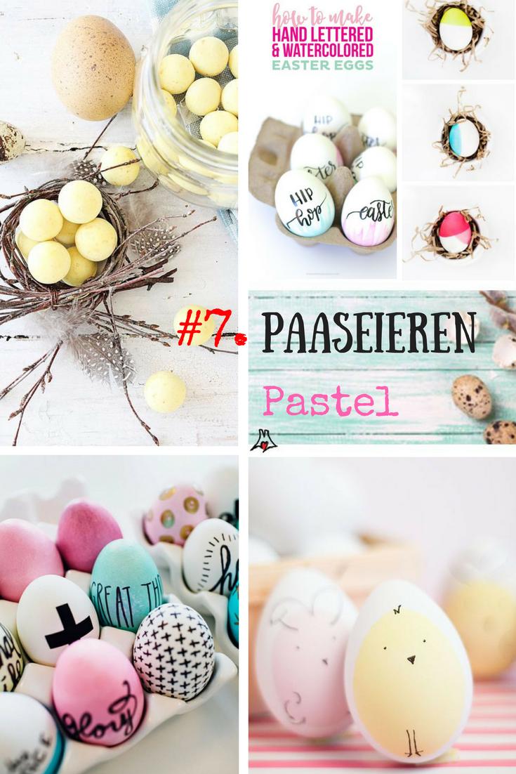 """Paaseieren bewerken techniek #7. Paasei Pastel"""