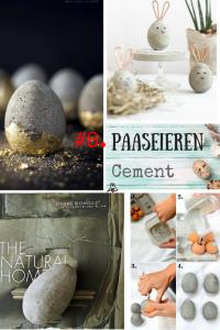 """""""Paaseieren bewerken techniek #8. Paasei in cement"""""""