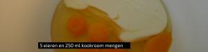 """""""5 eieren met 250 ml kookroom mengen - quiche - Kids proof quiche - makkelijk & lekker - Quiche bladerdeeg spek spinazie en walnoten - mels feestje"""""""