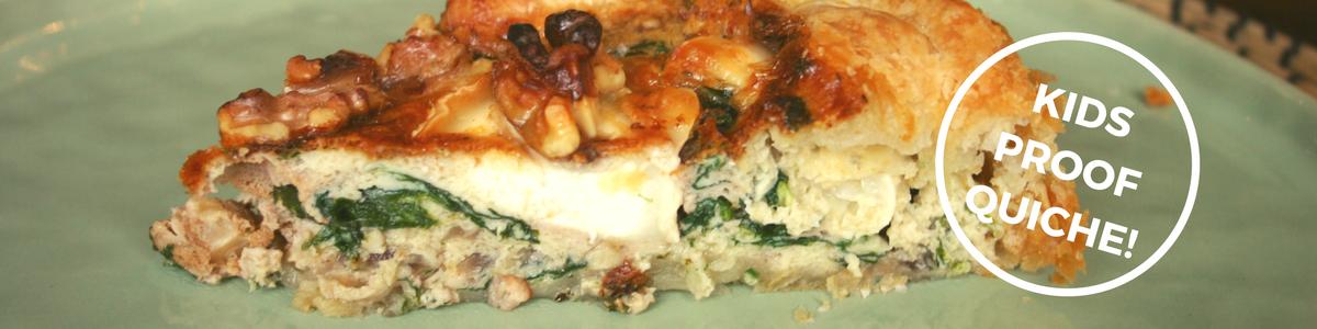 """""""Blogfoto - Kids proof quiche - makkelijk & lekker - Quiche bladerdeeg spek spinazie en walnoten - Eten voor vanavond - recepten voor"""""""