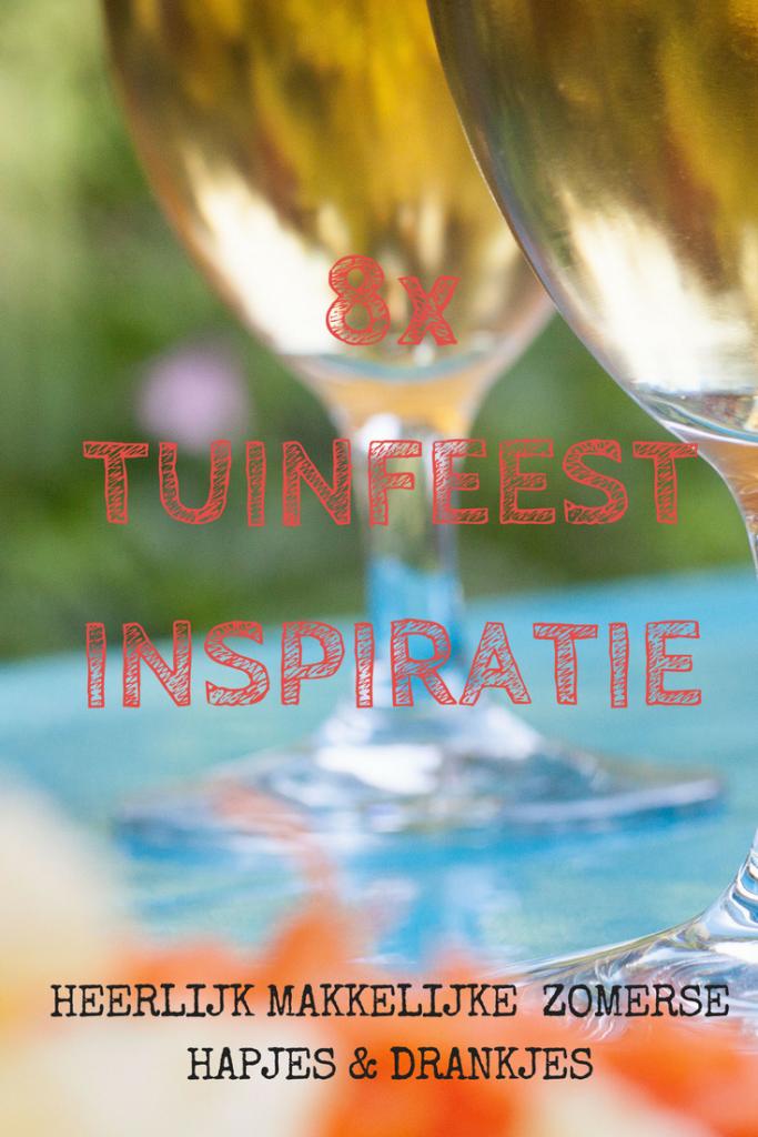 8x TUINFEEST INSPIRATIE Pinterest bord - 7x leuke inspiraties voor makkelijke hapjes voor op je tuinfeest - mels Feestje