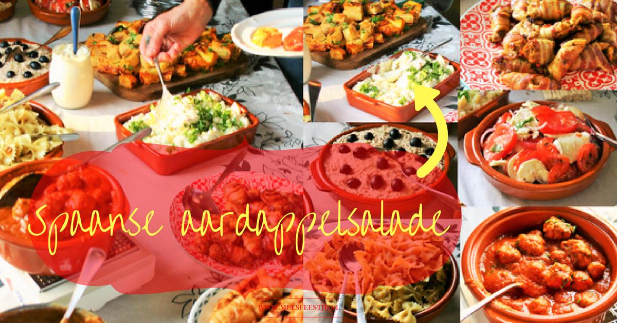 """T8x makkelijke tapas - Een koude zomerse, pittig door de knoflook, te makkelijke aardappelsalade. Gegarandeerd word je om het recept gevraagd, en die is geweldig. - tapasfeestje - camping recept - BBQ salade - Mels Feestje"""""""