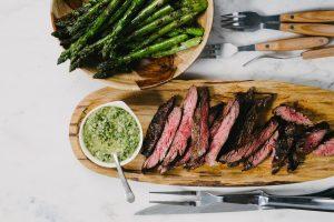 """BBQ Biefstuk met Melchurri en een rode Jacobs Creek merlot"""""""