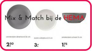 """Mix & Match aardewerk servies borden en schalen bij de HEMA. Moederdag cadeau voor haar"""""""