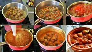 """""""Stap 2- Het bakken van de gehaktballen en maken van de saus. Albondigas, de bekendste Spaanse gehaktballetjes in een pittige tomatensaus - Tapasfeestje - Mels Feestje"""""""