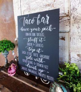 """Laura's Taco bar! Verschillende ideeen voor inrichting taco bar - Mels Feestje"""""""
