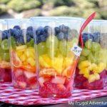 """Tuinfeest - fruit in een bakje - Zomer hapje - Mels Feestje"""""""