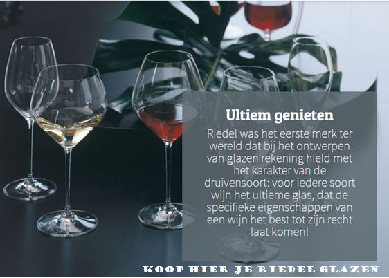 """Riedel wijnglazen - het mooiste cadeau voor een wijnliefhebber - de allerbeste wijnglazen - voor elke druif een ander glas - mels Feestje en Feestdagen"""""""