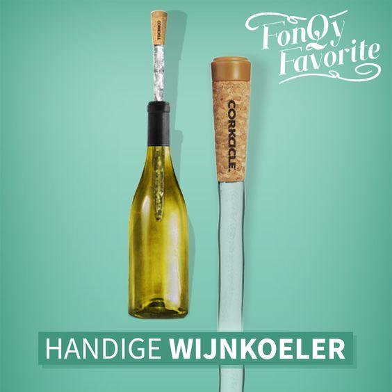 """corkcicle wine chiller - vriezer wijn koel ding - houdt je wijn goed koud - vaderdag cadeau voor de wijnliefhebber - mels feestje en feestdagen"""""""