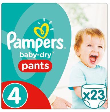 Pampers Baby dry pants maxi maat 4 23 stuks. E9,75. Nu bij AH 2+1 gratis!