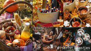 #Gezellig buiten met de herfst ☘️ Buiten picknicken met een mand vol leuke herfst lekkernijen. Een kampvuur maken met een kop warme chocolademelk. Zolang het maar droog is! Heerlijk gezellig samen buiten zijn met de herfst. 10x herfst sfeer creëren met Mels Feestje