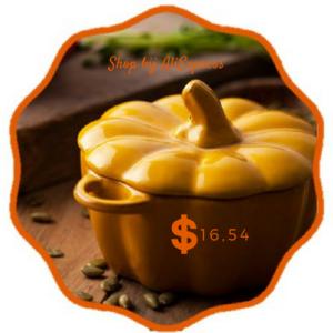 Een prachtige pompoenen soepkom. Te koop bij AliXpress voor nog geen E17. Hiermee creer je toch een mooie herfst sfeer op de herfsttafel? Het is een affiliate link in het bericht 10x herfstsfeer creëren #4. Pompoenen