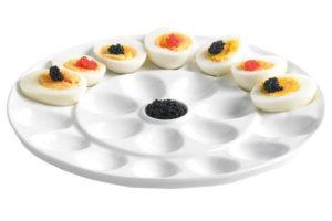 Gevulde eitjes schaal - Sinterklaas dobbelspel cadeau