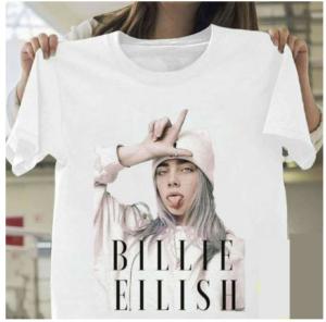 Sinterklaas dobbelspel - cadeau tip - Bille Eilish shirt