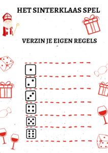 Sinterklaasspel dobbelsteen regels